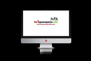 ordenador con el logo de Ho'oponopono Life
