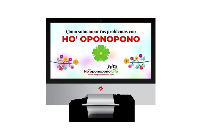 exto «Cómo resolver tus problemas con Ho' oponopono» escrito en pantalla de ordenador